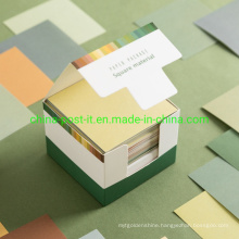 Square Cube Paper Notes Packed Into Paper Box