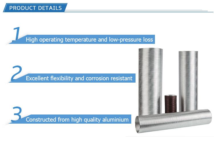 HVAC Systems Semi Rigid Aluminum Flexible Air Ventilation Duct
