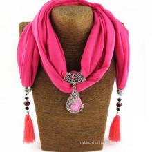 Fashion Women's Elegant Charm Tassels Rhinestone Decorated Jewelry Pendant Shawl