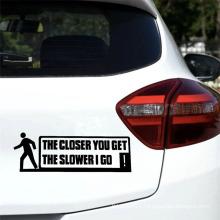 22Cmx8Cm Warning Design Car Decals Stickers Custom,Die Cut Car Body Side Sticker Design
