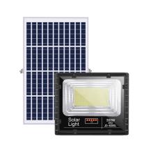 Holofote LED solar com display digital