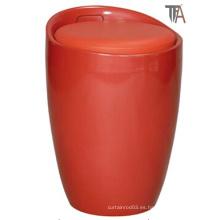 ABS rojo con material de tela Taburete
