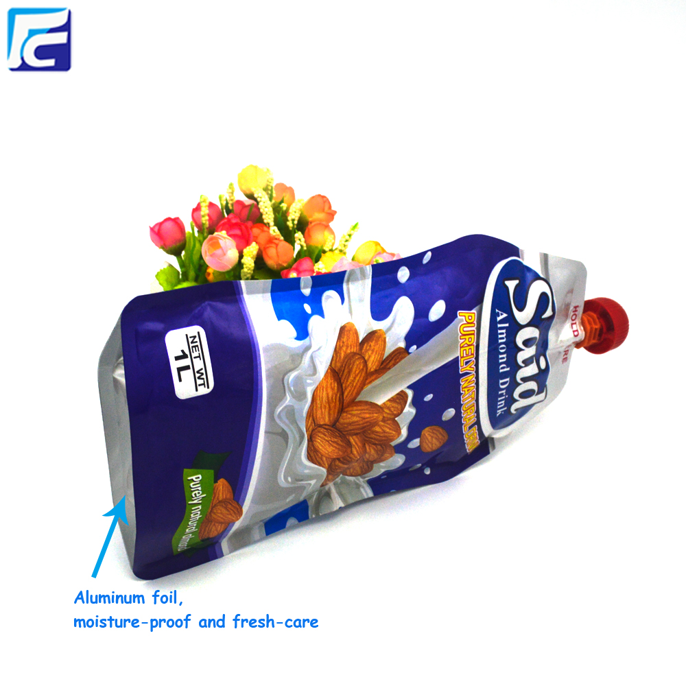 Liquid Pouch Foil Juice Bag with Spout