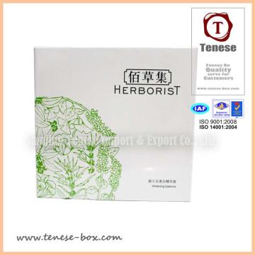 Boîte d'emballage cosmétiques personnalisée à haute qualité avec brillant