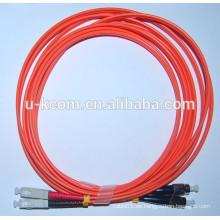 SC / FC MM Duplex 2,0 mm de fibra óptica Patch Cord