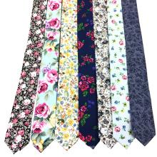 Organic Cotton Print Wholesale Skinny Floral Tie