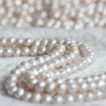 11-12mm 3mm Big Hole Nearly Round Water Pearl Strand E180009