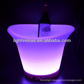rechargeable PE LED ice bucket with remote control