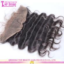 Оптовые продажи монгольский человеческие волосы 100% необработанных полное кружево лобной закрытия