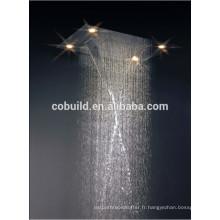 L'Amérique du Sud vente chaude tête de douche à main a conduit l'éclairage plafond monté tête de douche de pluie