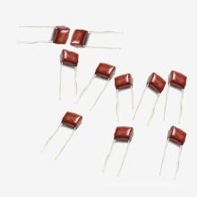 China Capacidad Fabricación Topmay 0.22UF + -10% 250V Electrónica metalizada Poliéster Película condensador Mkt-Cl21