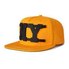 visière plate en sergé de coton avec chapeau à logo personnalisé