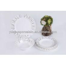2015 talheres conjunto dourado e prata decalque jantar porcelana fina conjunto