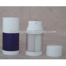 20ml 30ml 60ml Botella sin aire con dos tubos Fabricante