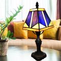 Прикроватная лампа из синего стекла