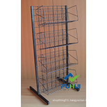 Metal Wire Floor Retail Display Stand (pH12-385)