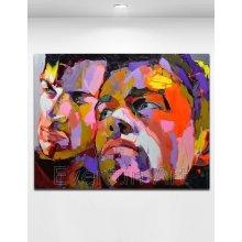 Arte pop hecho a mano de la pintura al óleo del 100% en la lona (KVP-169)
