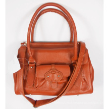 Guangzhou Supplier Designer Front Pocket Genuine Leather Womens Handbags (161)
