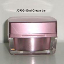 Square Shape Acrylic Cap Cream Jar J050G