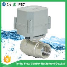 Dn20 230V Latão banhado a níquel Válvula de corte de água elétrica