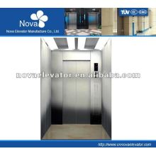 Hairline/etching/mirror stainless steel elevator for buliding, luxury