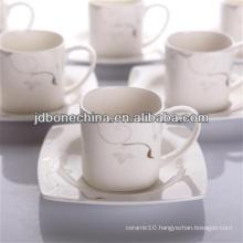 PS AD vintage style ceramic porcelain crockery coffee tea mug with lid set cup stock lot
