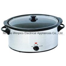 olla de cocción lenta 330watts - 6.5 L (7,4 QT), forma Oval cerámica pote interno