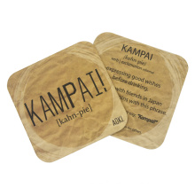 Promotional Cheap Absorbent Paper Coasters with Custom Logo