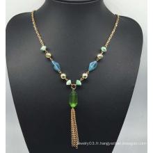 Collier de perles perles colorées (XJW13762)