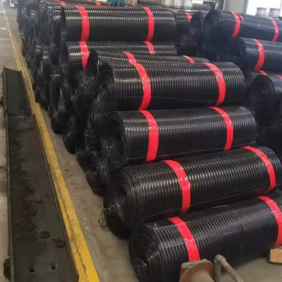 Vägbyggnadsmaterial HDPE / PP Uniaxial Plastic Geogrid