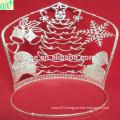 2014 Santa Claus crown,big pageant crown,tall animal tiaras for sale