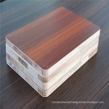 Melamine faced Malacca block board for furniture plywood