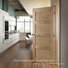 Factory painted red oak veneered kitchen room shaker door, solid wood shaker door.
