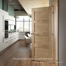 Fábrica pintado carvalho vermelho folheado cozinha sala shaker porta, porta de madeira sólida shaker.