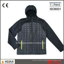 Mens Outdoor Winter Padded Quilted Softshell Jacket