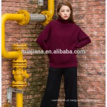 Suéter de caxemira mais tamanho da mulher