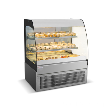 Showcase Bakery Didinginkan Stainless Steel Berkualitas Tinggi