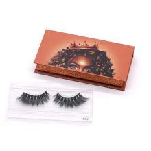 862T Hitomi Custom Eyelash Packaging Label Natural Siberian Mink Lashes Clear Band Luxury Real Fluffy 3D Mink Eyelashes