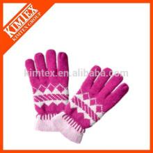 Fashion winter jacquard knit gloves