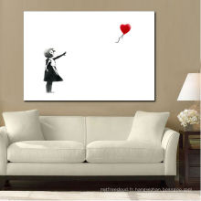 Enfants noir et blanc avec ballon Image