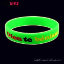 Wholesale promotion silicone rubber sport wristband bracelet band