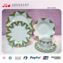Platos de cena artísticos de porcelana para el restaurante