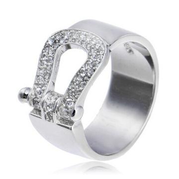 Bijoux bague de mariage Français Fred real 925 argent avec CZ pierres anneaux de mariage de femmes élégantes