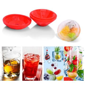 Moldes coloridos FDA Silicone Freezer Icy Drink