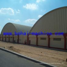 Máquina de proyecto de hoja de arco de acero Bohai 1000-610 en la pared