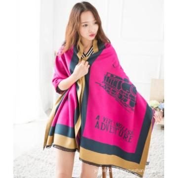 Lady nouvelle arrivée foulard en alibaba de forme de train de haute qualité