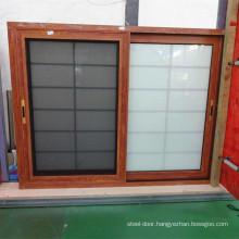2018 latest product size customized aluminium sliding windows triple track