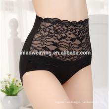 La más seductora Sexy China Ladies Undergarment Lingerie Bordado Lady High Cintura Panty Plus Panty tamaño para las mujeres gordas
