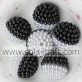 Double Color Acrylic Artificial Pearl Round Berry Loose Beads