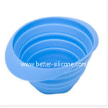 Kitchen Elastomer Foldable Silicon Rubber Strainer